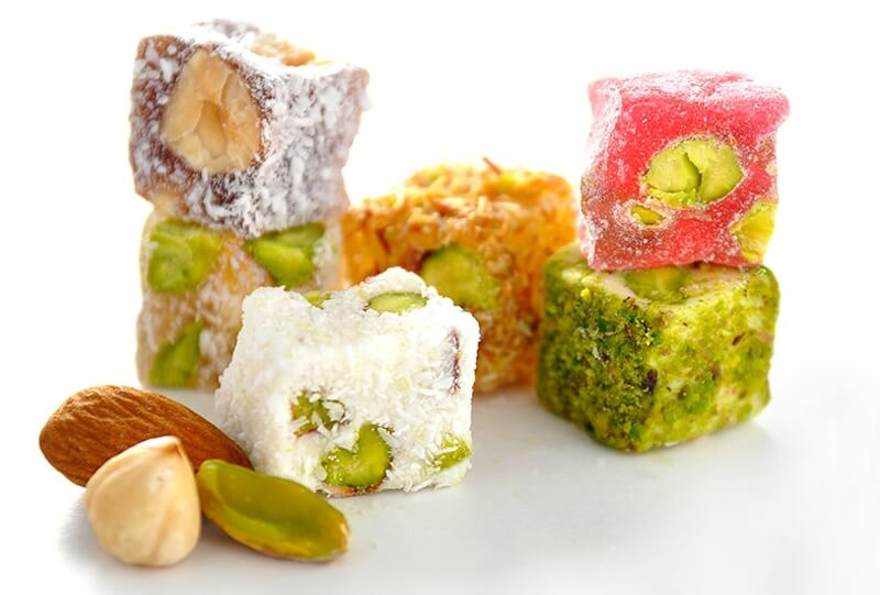 Different kinds of Turkish Delight