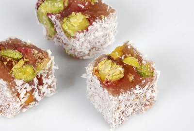 Selman Antep Pistachio Turkish Delight With Coconut